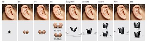 hearing aid types hearing aid styles advanced hearing services ft collins co