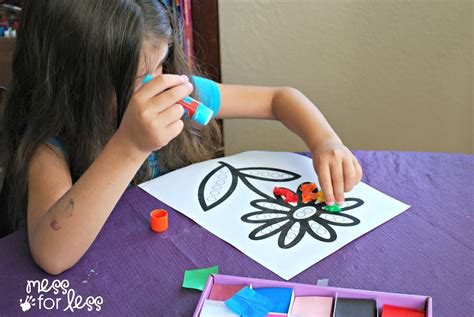 paper craft classes tissue paper flower activity mess for less
