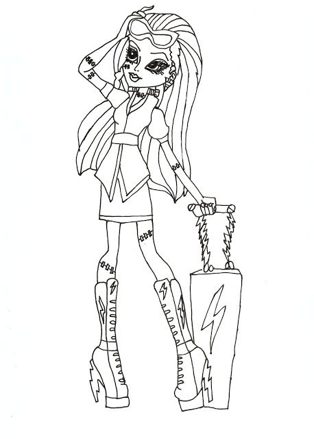 printable coloring pages of monster high dolls all about monster high dolls frankie stein free printable