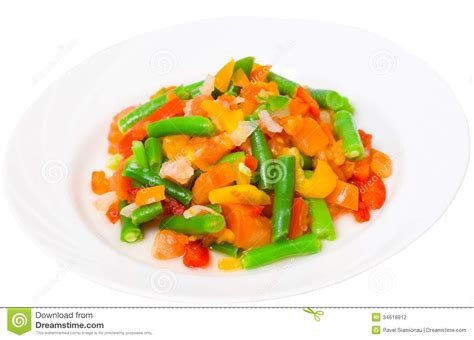 vegetables plate mixed vegetables on a plate stock photography image