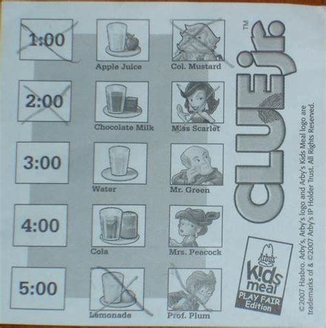 printable clue instructions clue jr travel game image boardgamegeek