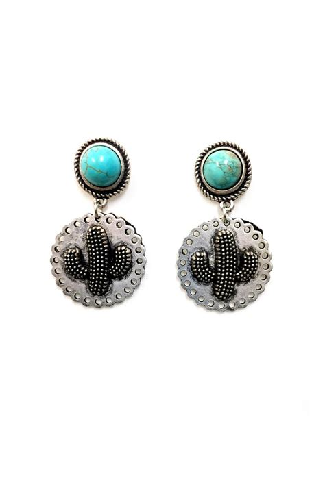 Cactus Earring jchronicles cactus turquoise earrings from shoptiques