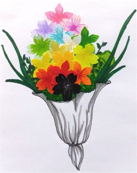 Paper Flower Bouquet Craft - papercraft bouquet of flower by blackrose frozenrose on