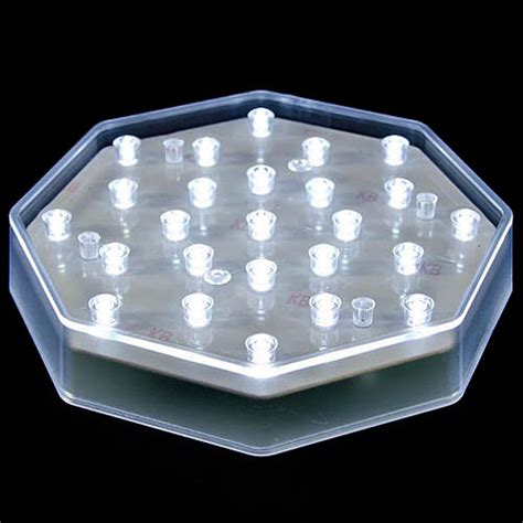 25 clear led centerpiece light base battery powered with