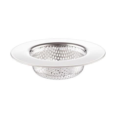 sink strainer stainless steel sink strainer the container store