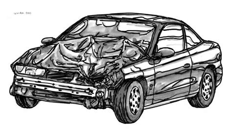 wrecked car drawing drawing drawings of cars to color pencil muscle car