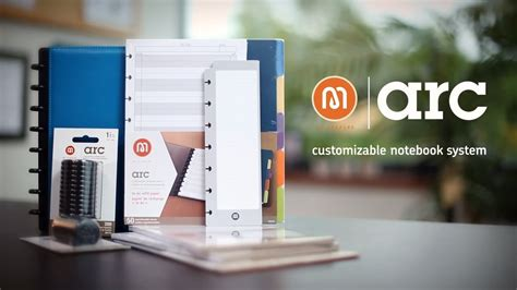 arc customizable notebook  staples exclusive youtube