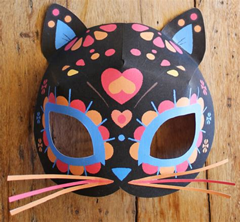 How To Make A Cat Mask With Paper - make this balloon calavera skull decoration for day of