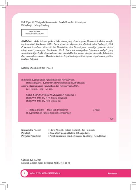 B Inggris Kelas 11 Sma Ma Semester 2 Kurikulum 2013 Revisi 2014 Dikb buku pegangan siswa bahasa inggris sma kelas 10 kurikulum 2013 edisi