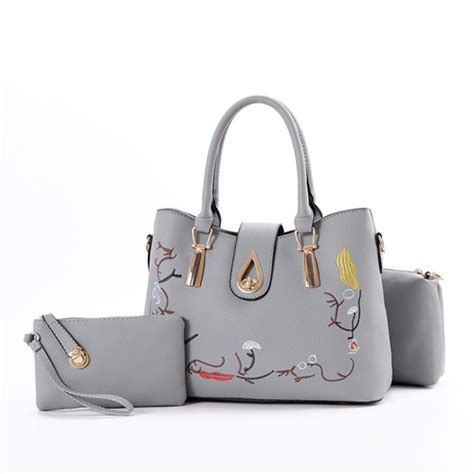 3 Tas Fashion 3in1 jual b8631 gray tas fashion set 3in1 grosirimpor