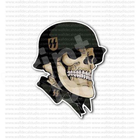 holocaust tattoo cartoon german skull ss soldier nazi sticker skulls stickers