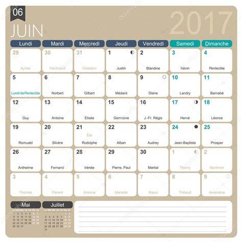 Calendrier 2017 En Francais Fran 231 Ais Calendrier 2017 Image Vectorielle 105899142