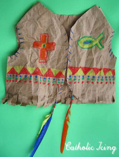 preschool thanksgiving costumes indian vest just one celebrate blessed kateri s canonization with kids