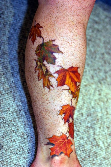 fall leaf tattoo 25 best ideas about fall leaves on