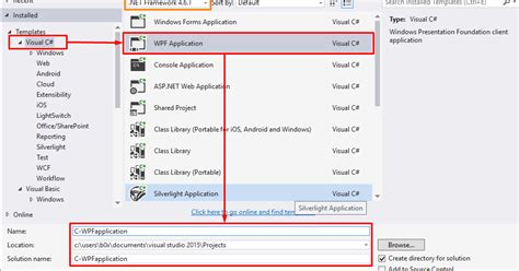 c tutorial application c wpf tutorial create first wpf desktop application