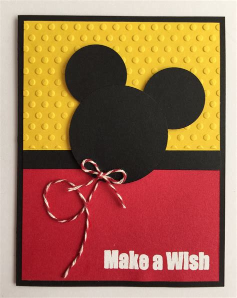 Handmade Minnie Mouse Birthday Cards - handmade embossed mickey mouse birthday card