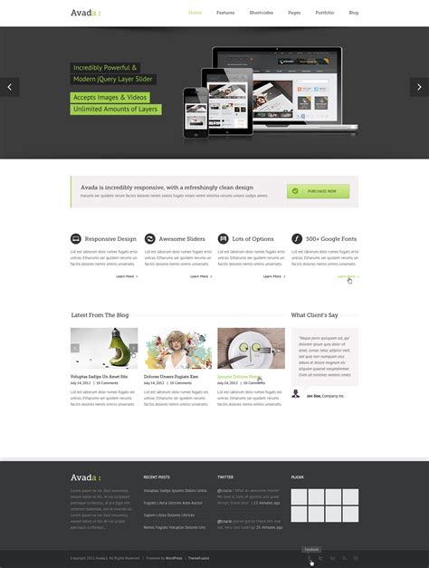 Avada Theme Psd Free Download | avada psd by lbeck themeforest