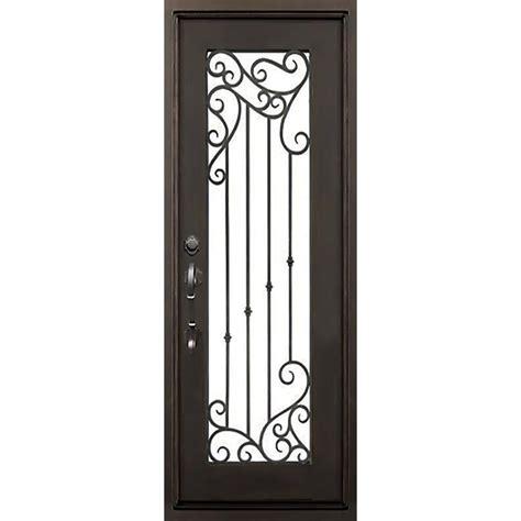 Wrought Iron Exterior Door Hardware Florida Iron Doors 72 In X 96 In Lakeland Bronze