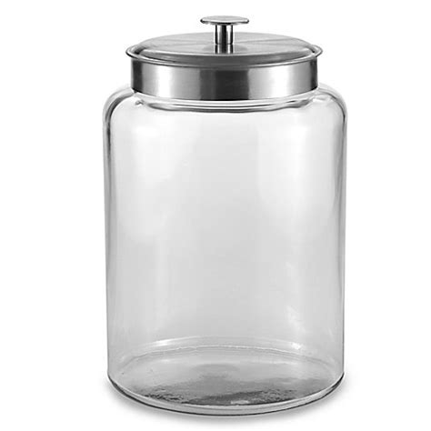 bathroom jars with lids buy glass jar with lid from bed bath beyond