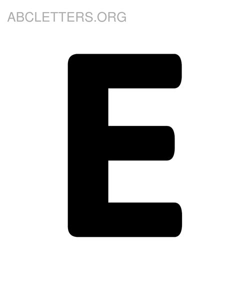 large printable letters e big abc letters to print abc letters org