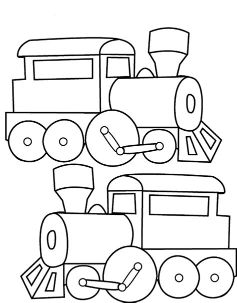 easy train coloring page simple train outline printable