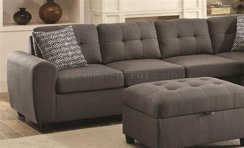 grey fabric sectional stonenesse sectional sofa 500413 in grey fabric coaster