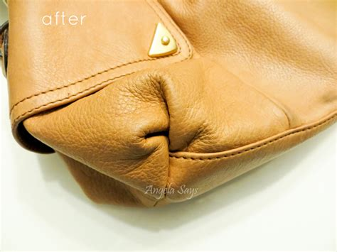 How To Disinfect A Leather by How To Clean A Leather Purse Angela Says
