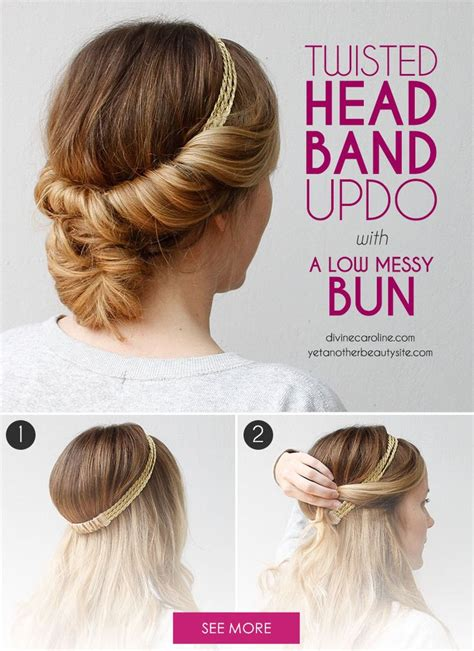 25 best ideas about tuck and cover on headband updo headband tuck and diy bridal