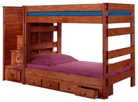 extra long twin bunk beds jericho extra long twin over twin stairway bunk bed