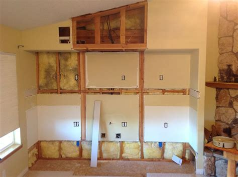 California Kitchen Cabinets In Wall Entertainment Center Custom Drywall Work