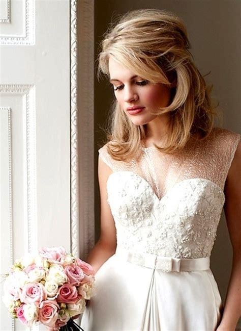 Wedding Hair Mid Length by Mid Length Bridal Hair Wedding Ideas Mid