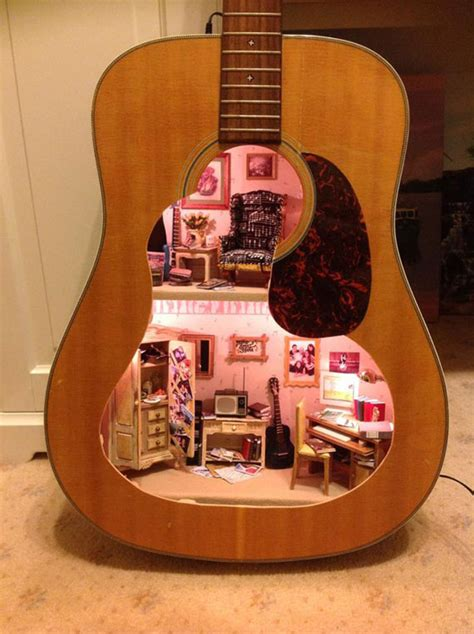 inside of a doll house a dollhouse built inside a guitar kid crave