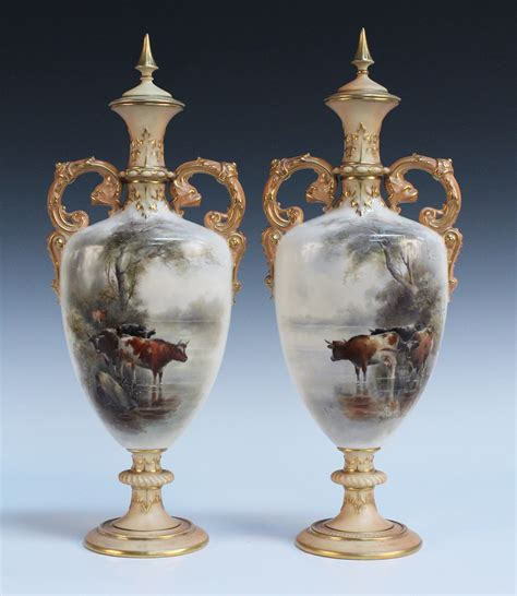 Royal Worcester Vases by Royal Worcester Toovey S
