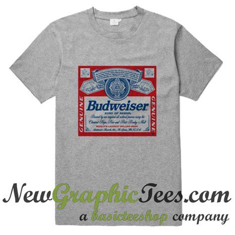 Tees Kaos T Shirt Budweiser budweiser king of beers logo t shirt