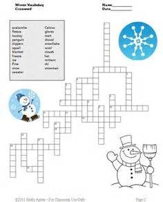 Christmas crossword puzzles for middle school students christmas