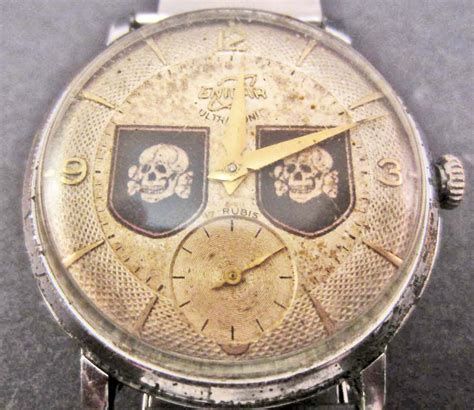 ss 33 028 modelblog german nazi waffen ss tottenkopf wrist watch with new strap