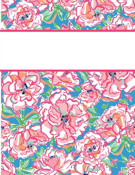 printable lilly binder covers my cute binder covers lilly pulitzer printable binder