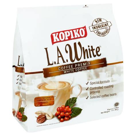 White Coffee Kopiko kopiko l a white coffee premix white coffee 15 x 40g