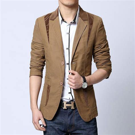 Blazer Jaket Fashion Pria Murah new fashion autumn style casual slim suit blazer jacket plus size m l xl