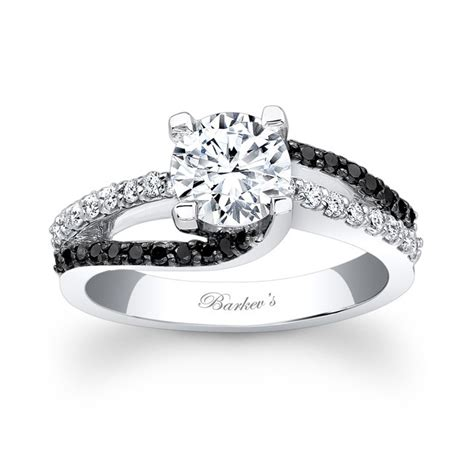 Two Tone Engagement Rings barkev s black diamond engagement ring 7677lbk barkev s