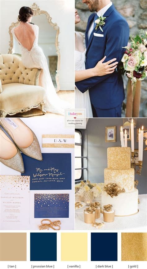 opulent blue and gold wedding theme