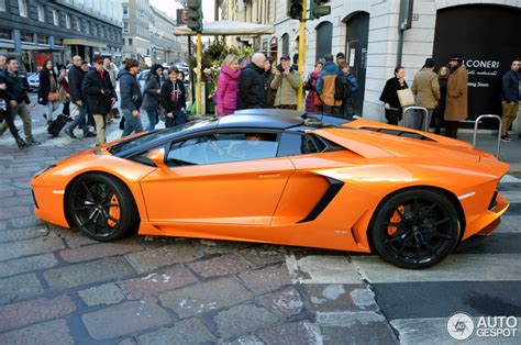 Lamborghini Aventador Roadster Orange Lamborghini Aventador Lp700 4 Roadster 9 February 2015