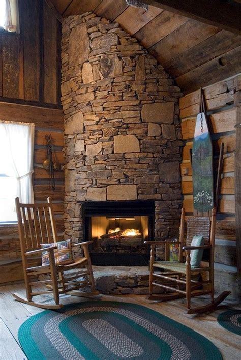 a warm fireplace in a cabin rental in bryson city is a