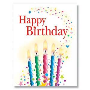candles and confetti birthday card
