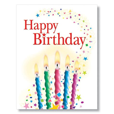 Picture Birthday Cards Candles And Confetti Birthday Card