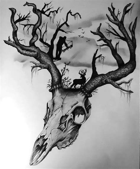 camo skull tattoo 576 best images about deer hunting tattoo ideas on