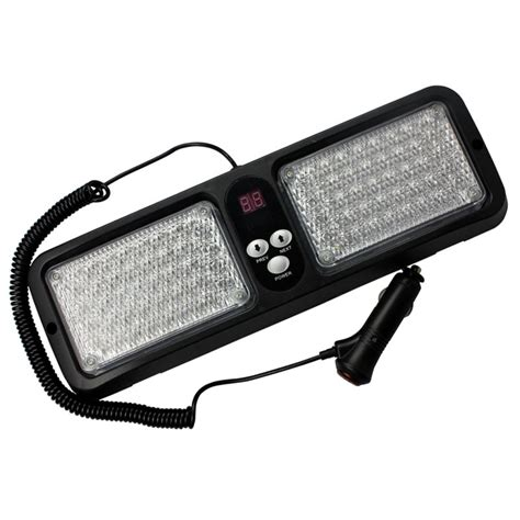 20w sun visor car truck warning light strobe