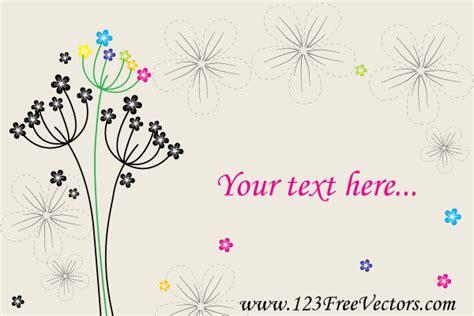 desain kartu ucapan wedding vector greeting card with flowers 123freevectors