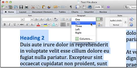 word layout two columns accessible ms word docs office of accessible education