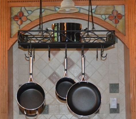 Wire Rack For Pots And Pans J J Wire Pot And Pan Rack Black Storage Benches Patio